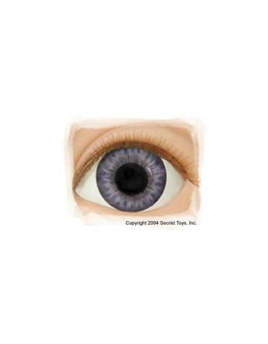 Ojos Acrilico tamaño 12 mm color VICTORIAN BLUE